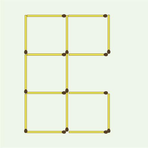 Как из четырех одинаковых квадратов сделать три